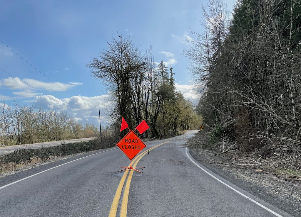 Helmick Road closed