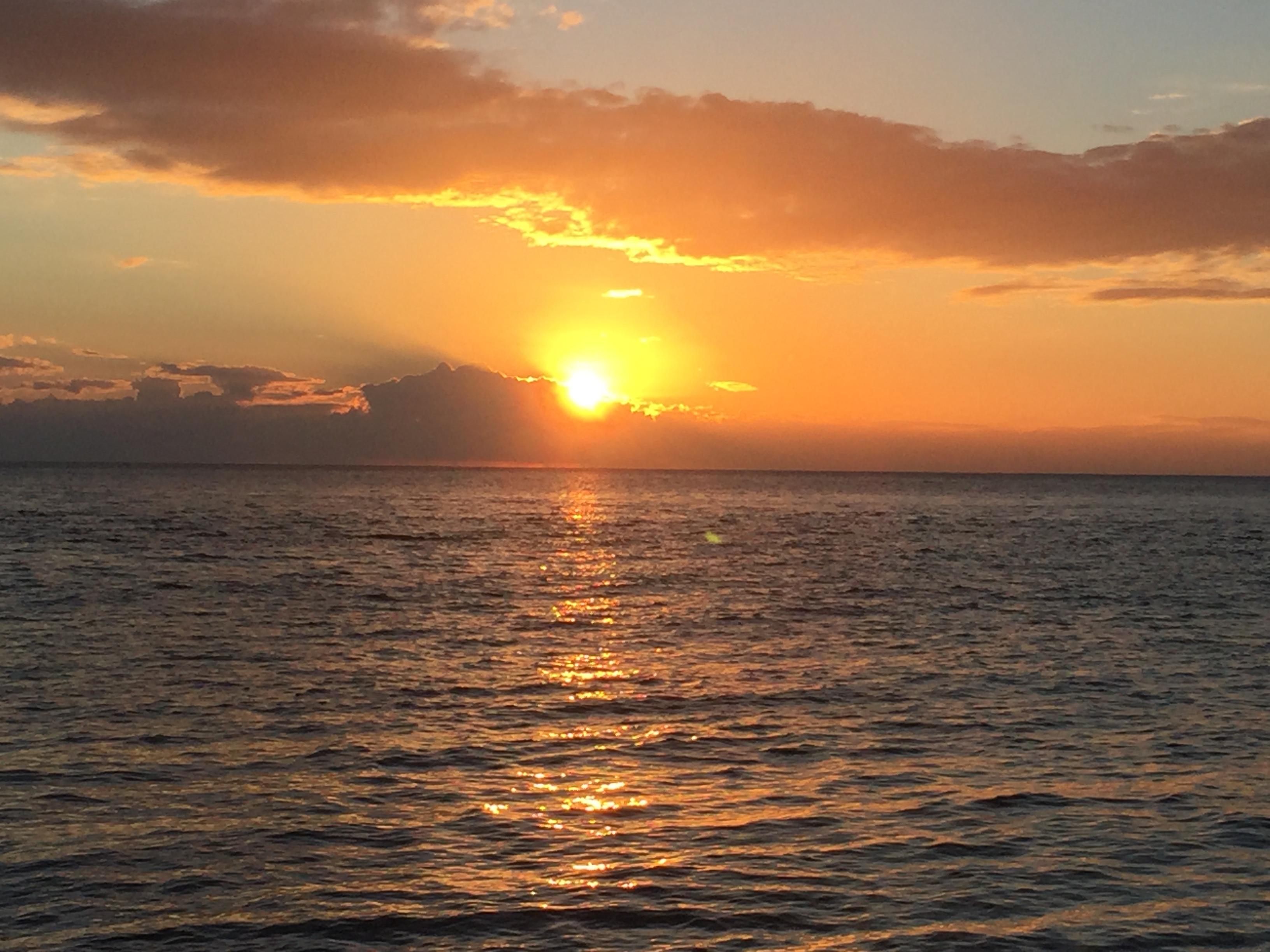 Sunset on Hauraki Gulf