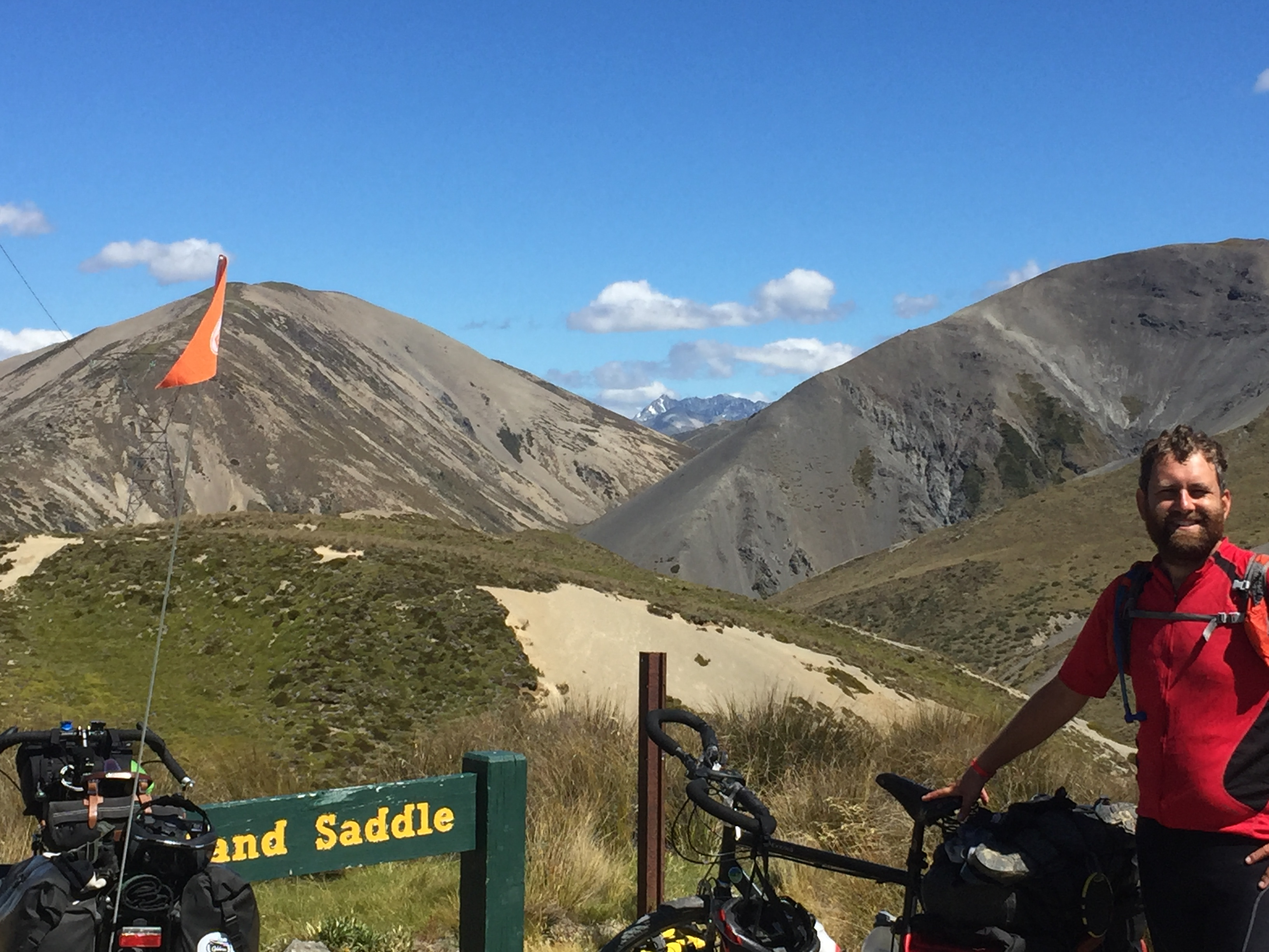 Jelle at the top of Island Saddle