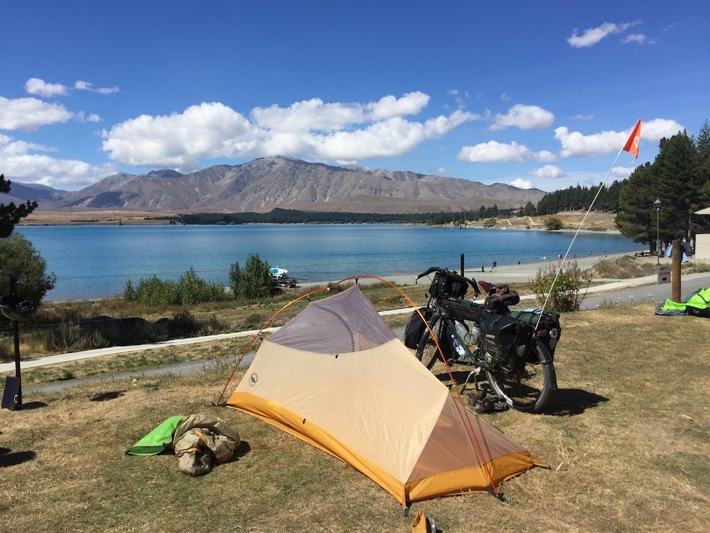 Campsite at Lake Tekapo