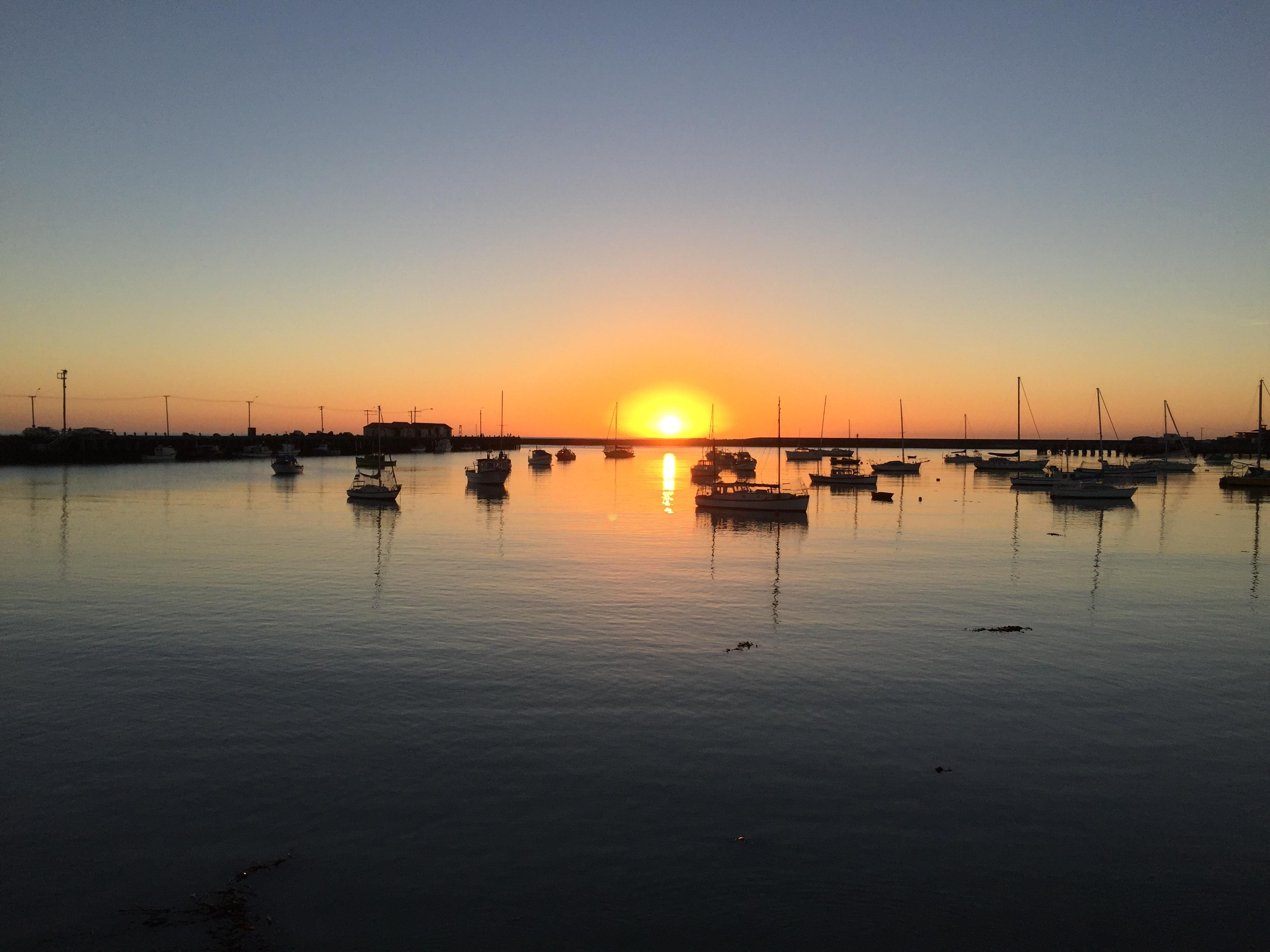 Sunrise on Oamaru Harbor