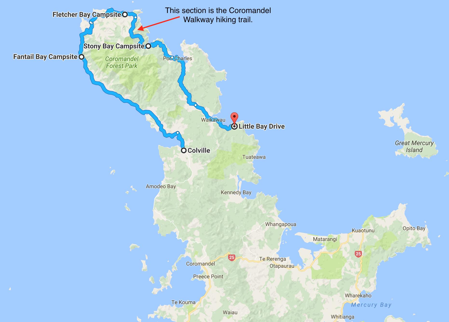 Map of Coromandel