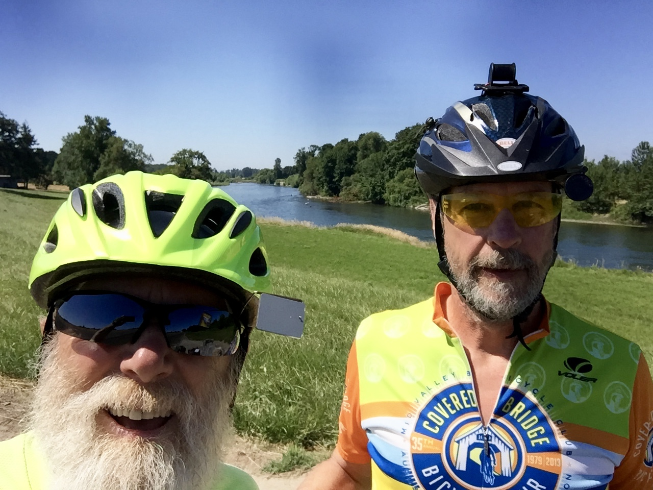With Robert by the Willamette